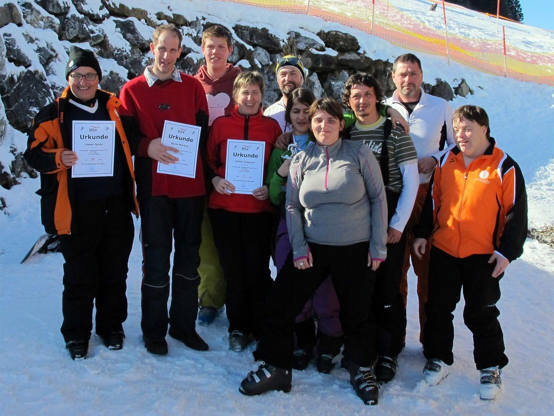 """Die """"Special Friends"""" haben eine lange, aber erfolgreiche Ski-Saison hinter sich."""