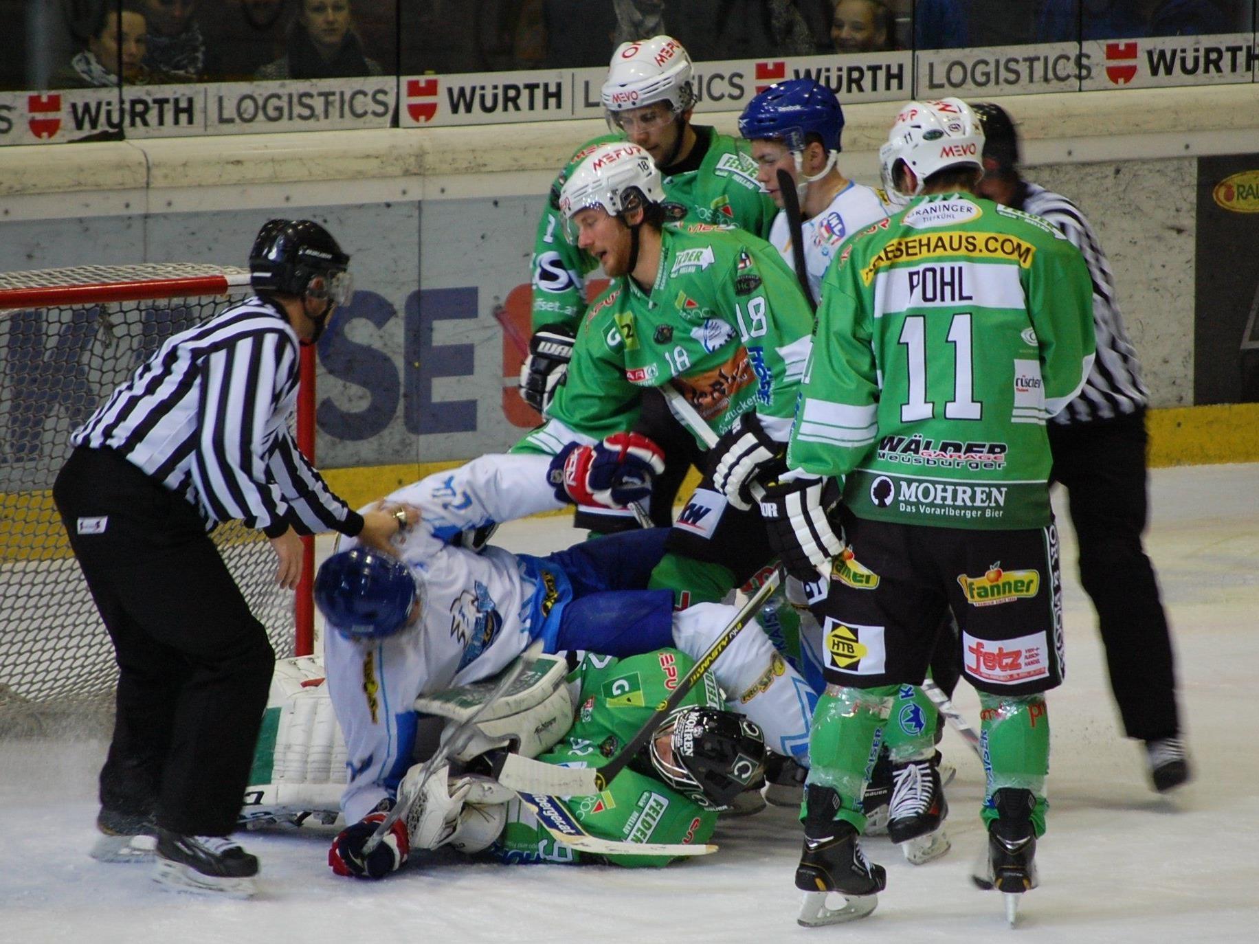 Der EHC Bregenzerwald spielt am  Wochenende in Dornbirn um ein Halfinal-Ticket.