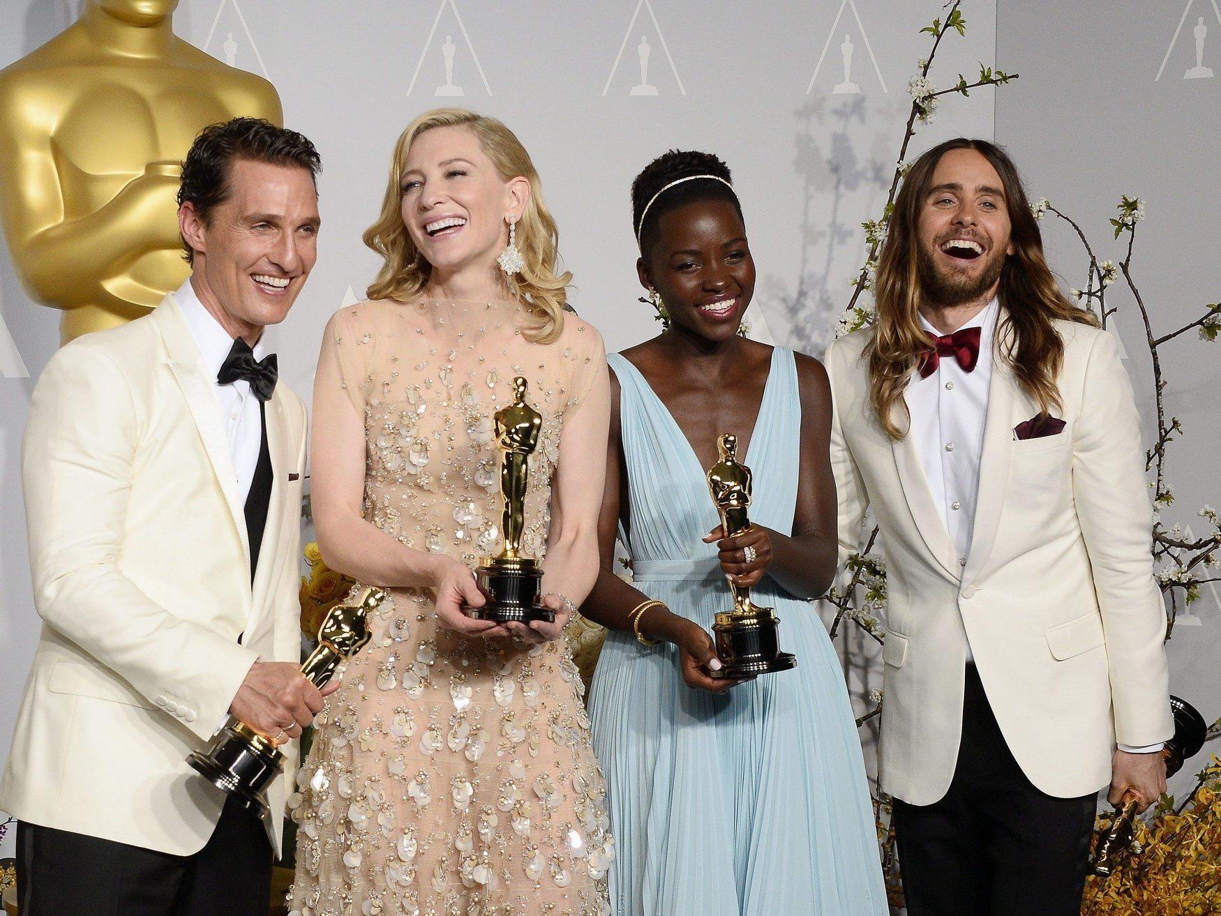 Die glücklichen Oscar-Gewinner 2014.