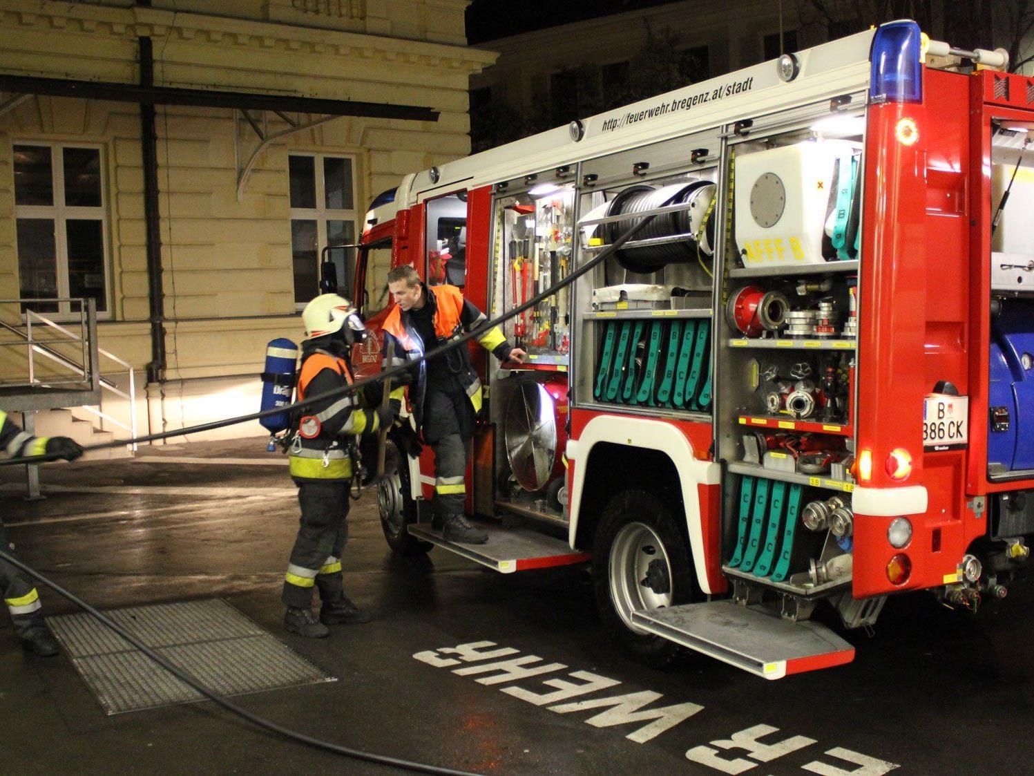 Feuerwehreinsatz im Bregenzer Postgebäude