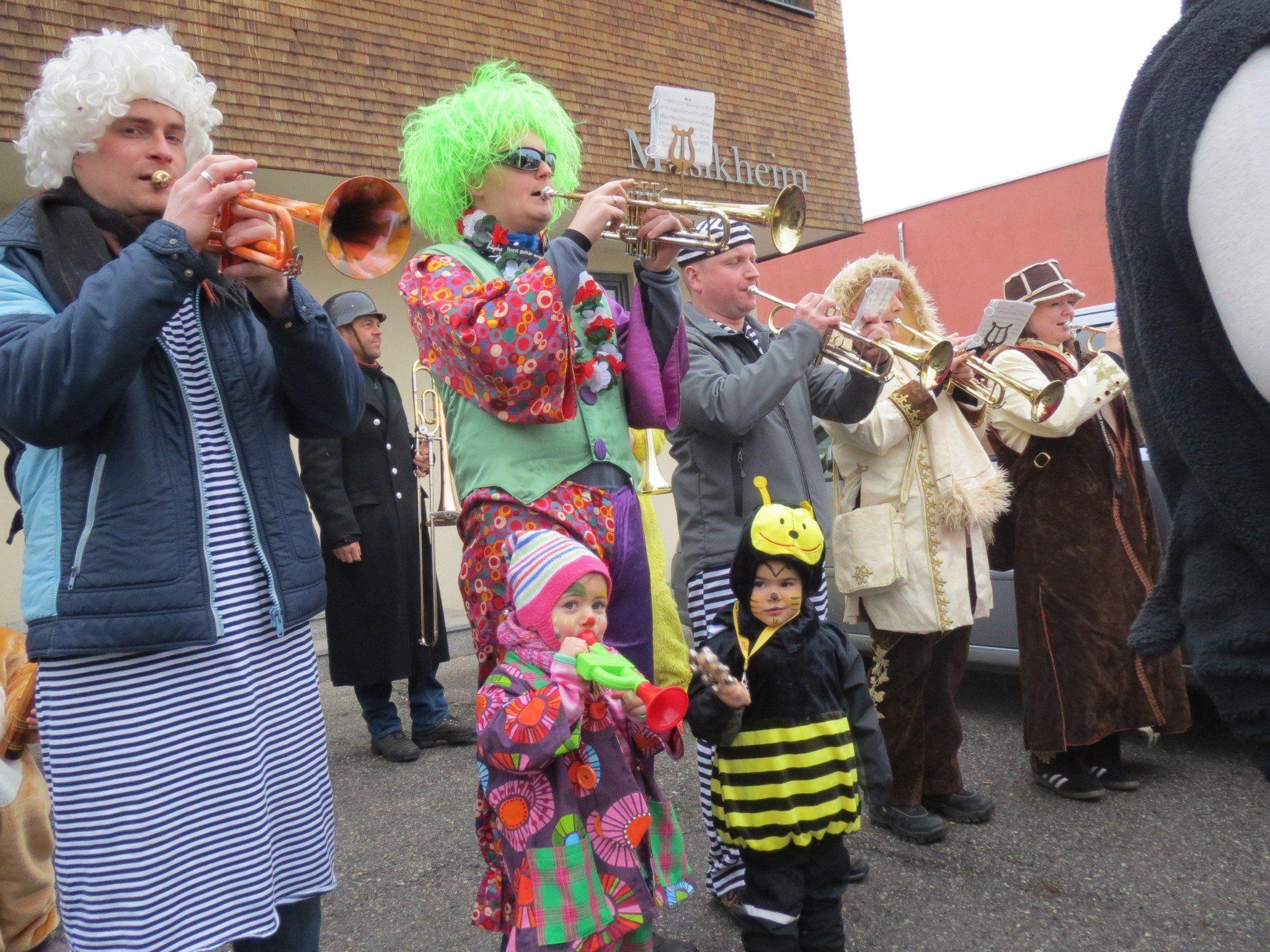 Die Guggenmusik des Musikvereins Harmonie Weiler