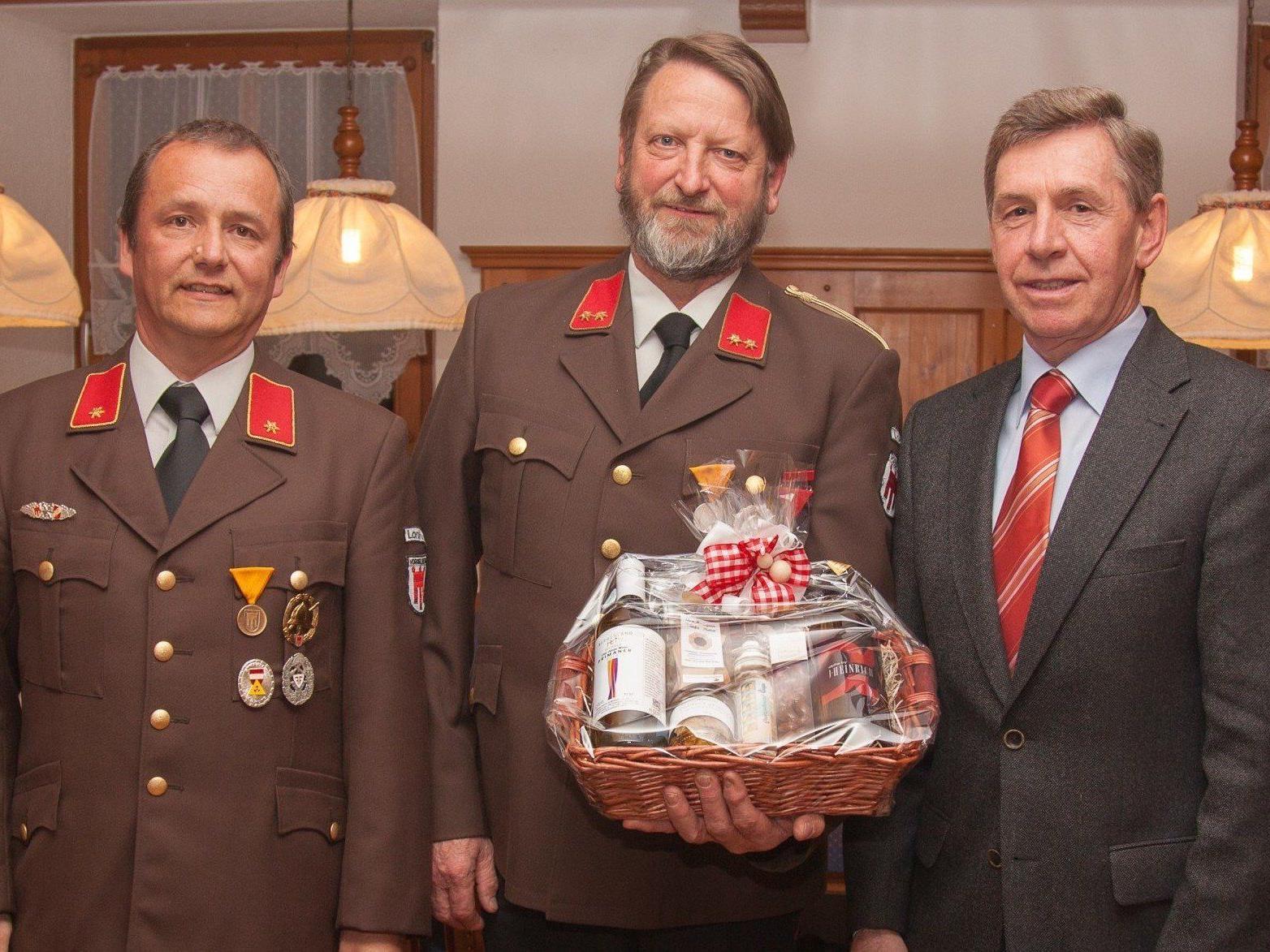 Neuer Feuerwehr-Kommandant in Lorüns ist Ing. Gabriel Schnetzer.