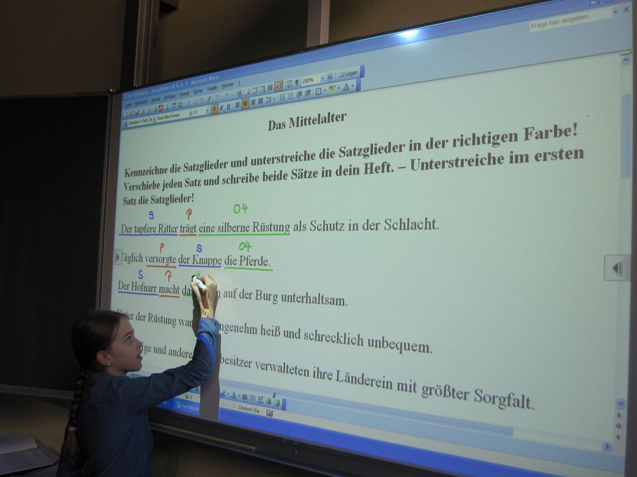 Die neuen Tafeln in der Volksschule Vandans zählen zu den modernsten im ganzen Land.