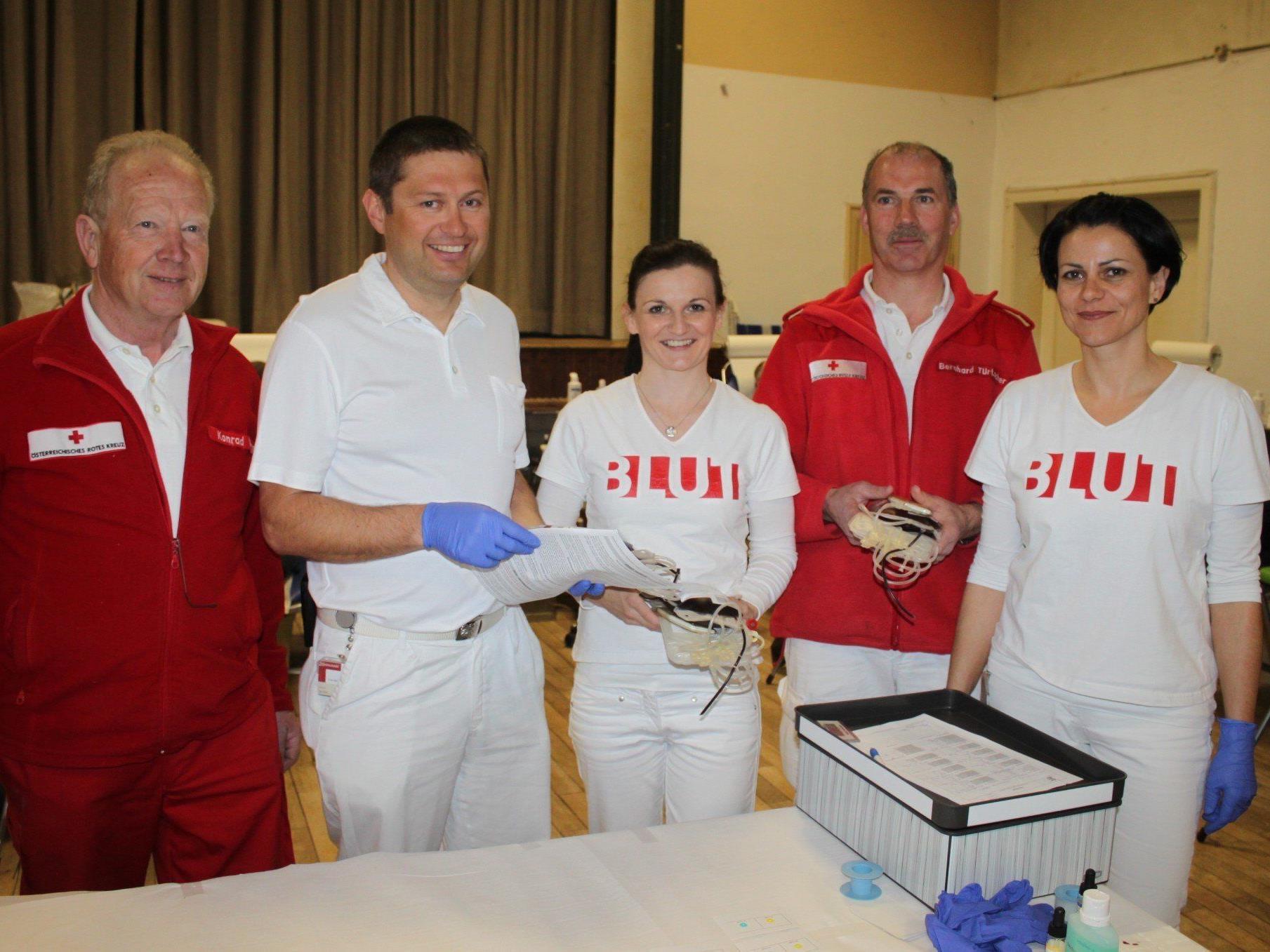 Die alljährliche Blutspende-Aktion Ende März in Lochau hat schon Tradition.