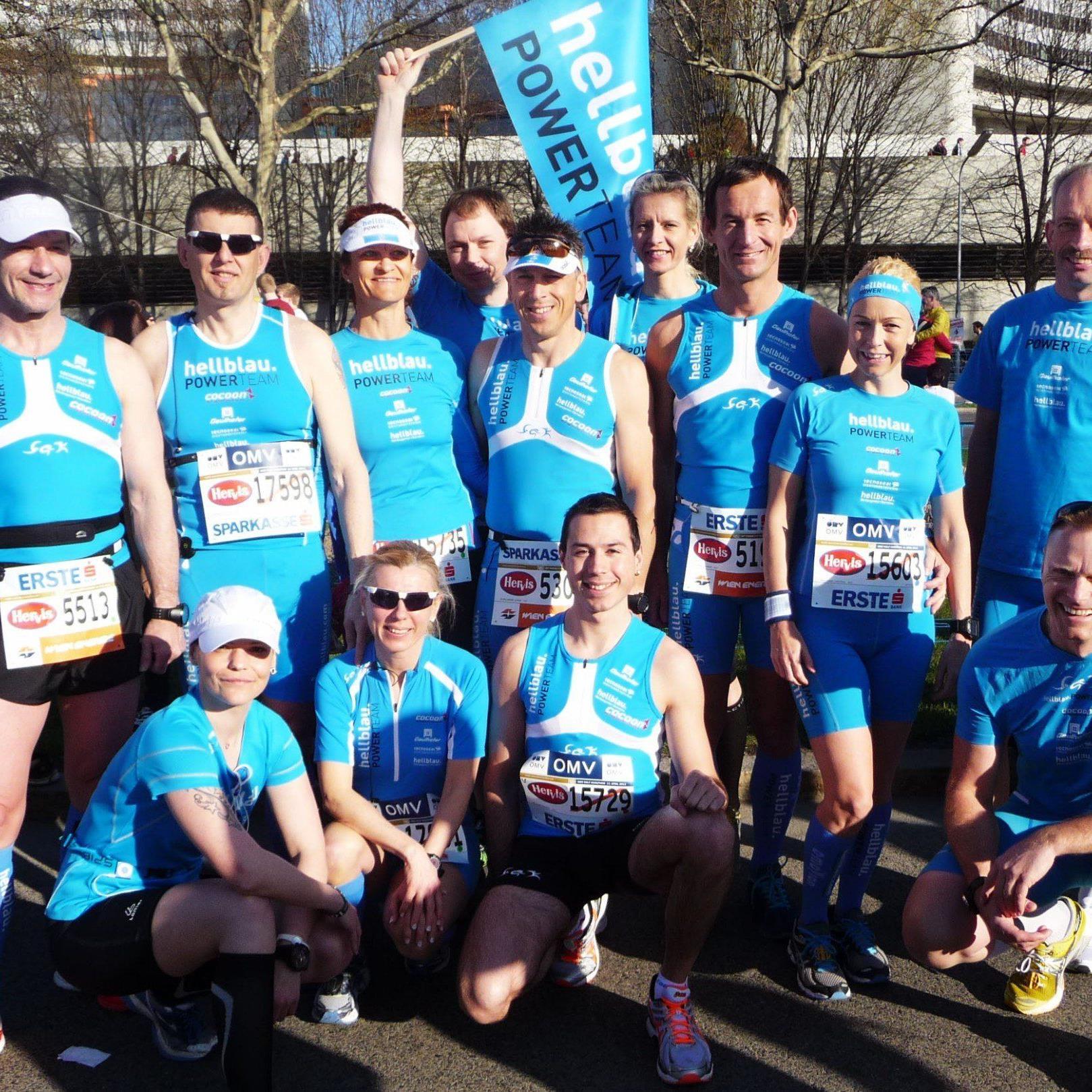 24 Athleten vom hellblau Powerteam sind in Lissabon beim Halbmarathon am Start.