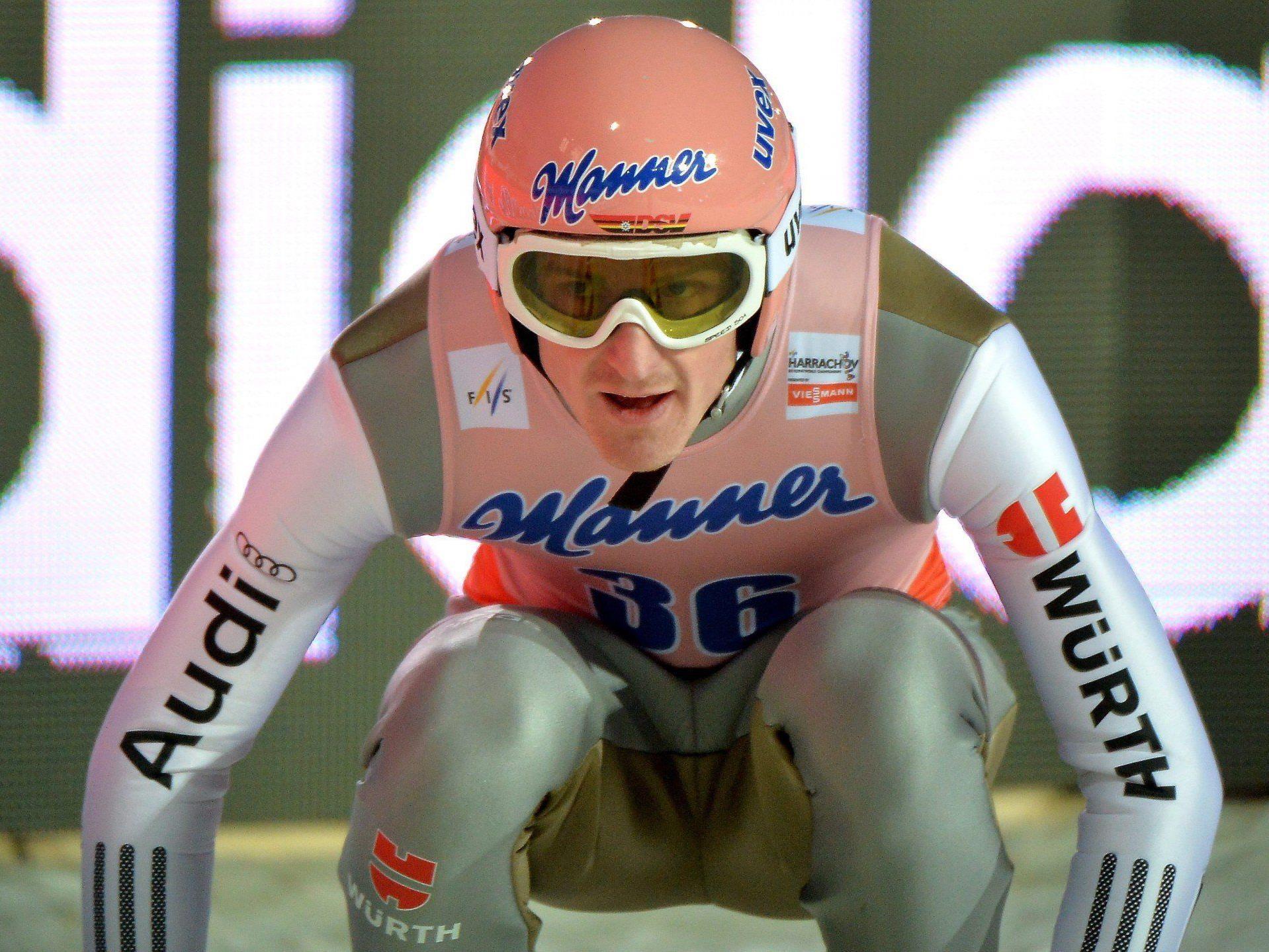 Severin Freund fixierte seinen WM-Titel im Skifliegen mit einer starken Leistung am ersten Tag des Bewerbes.
