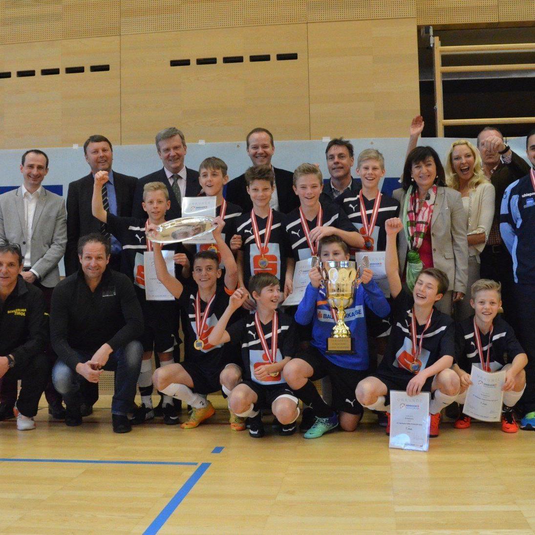 Die PG Mehrerau wiederholte ihren Vorjahressieg im österreichweiten Futsalcup in Wattens.
