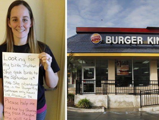 """Nach 27 Jahren fand das """"Burger King Baby"""" über Facebook seine Mutter."""