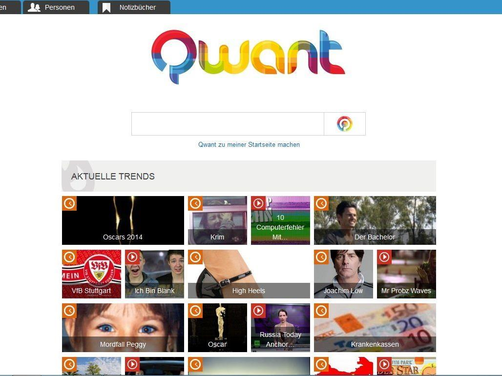 Die Suchmaschine Qwant speichert keine Nutzerdaten.