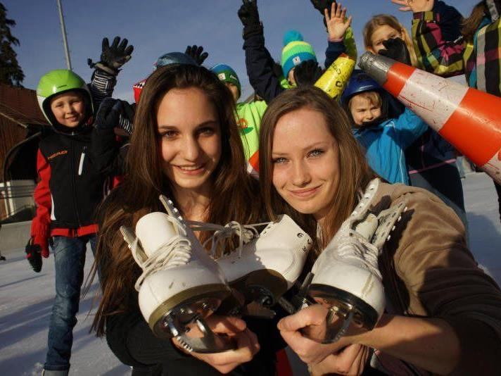 Bis Anfang November müssen die Eiskunstläufer ihre Schuhe wieder in den Winkel stellen.
