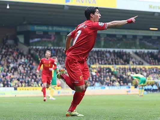 Luis Suarez erzielte Liverpools 2:0 (11.)
