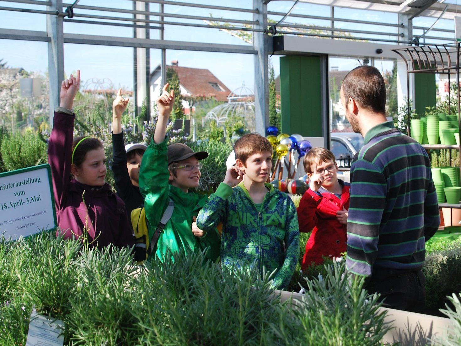 Von Alexander Angeloff erfuhren die Miniköche Wissenswertes über die Welt der Pflanzen.