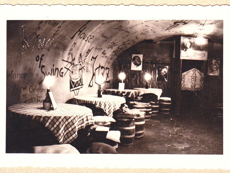 Dieses Foto zeigt den Jazzkeller Badewanne um 1960