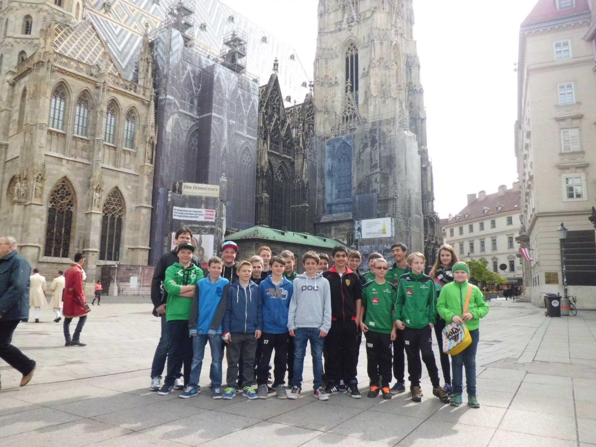 Die jungen Kicker in Wien.