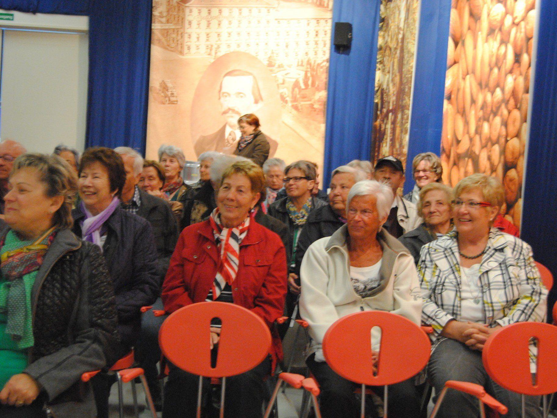 Mit freuden folgten die Senioren dem Vortrag
