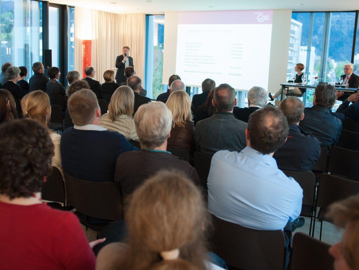 Zahlreiche Mitglieder folgten der Einladung zur Jahreshauptversammlung von Inside Dornbirn