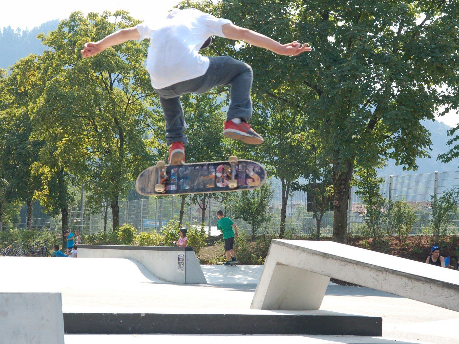 Im Skaterpark amKumma trifft sich die Jugend aus der Region