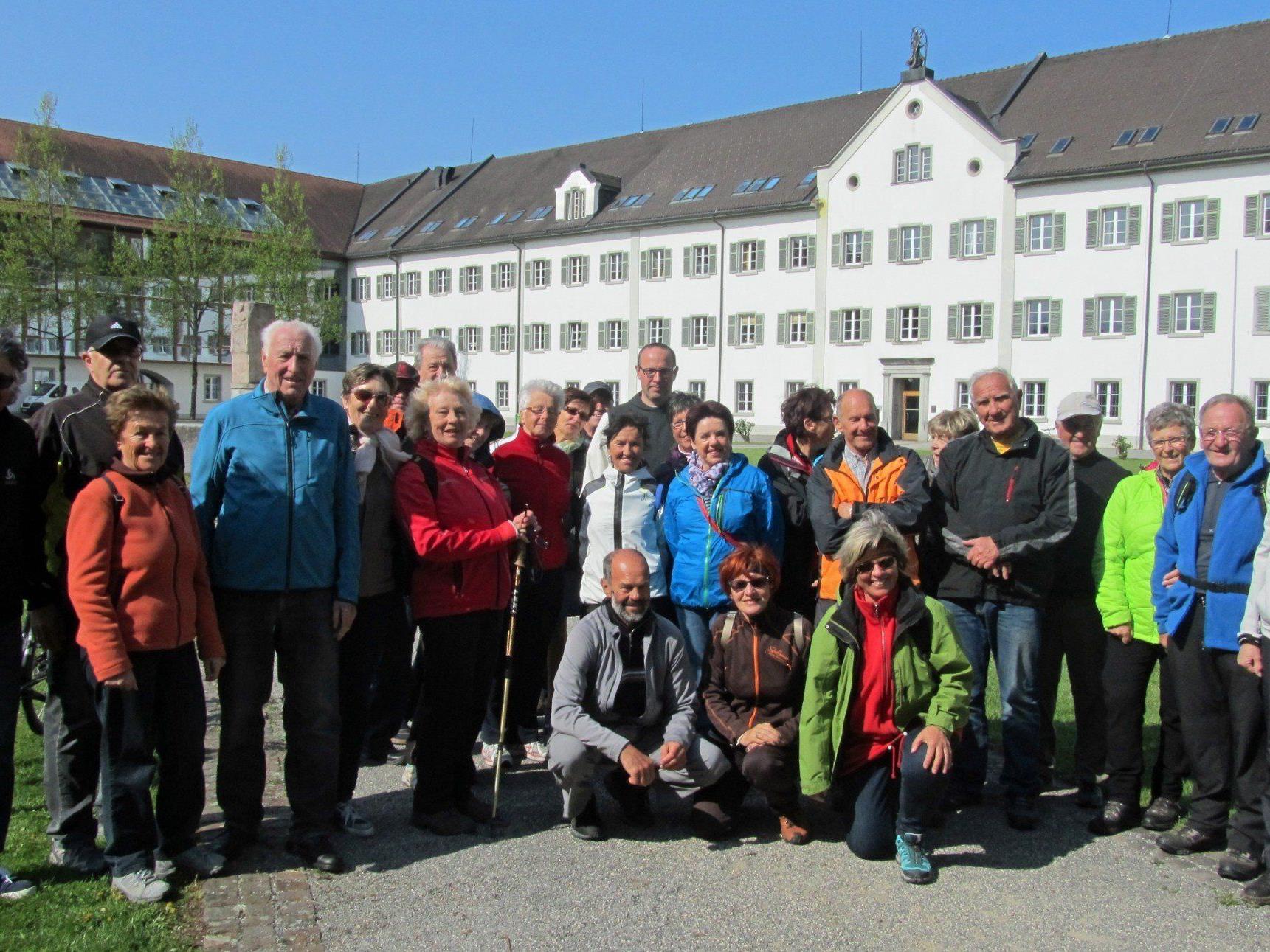 Team per pedales auf Osterwanderung in der Mehrerau