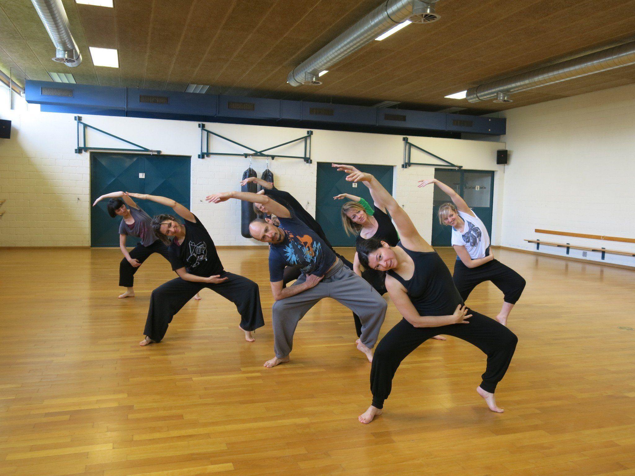 Die Tänzer und Tänzerinnen zeigen in den Trainingsstunden vollen Einsatz