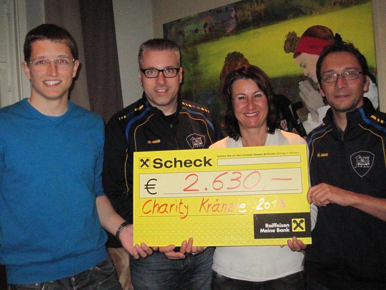 Dank dieses mittlerweile legendären Charty-Events wurden 2630 Euro an den Verein gespendet.