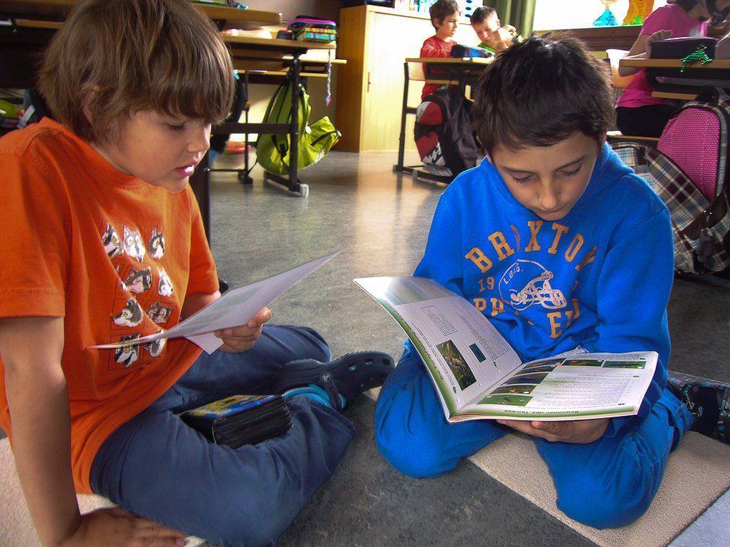 Großes Interesse herrscht beim Lesetag in der Volksschule Vandans