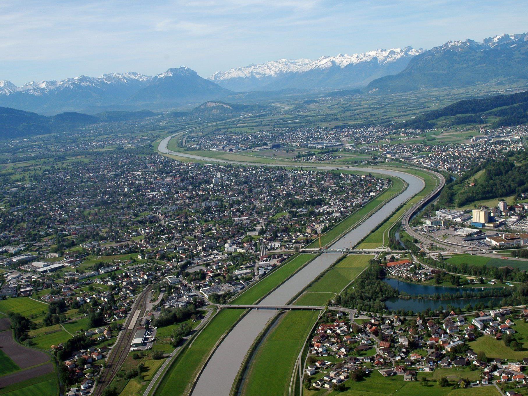 """Das Jahrhundertprojekt """"Rhesi"""" gewährleistet die Hochwassersicherheit am Rhein."""