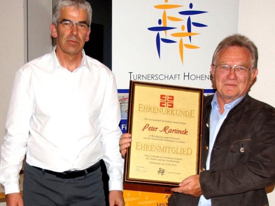 Peter Martinek wurde zum Ehrenmitglied ernannt.