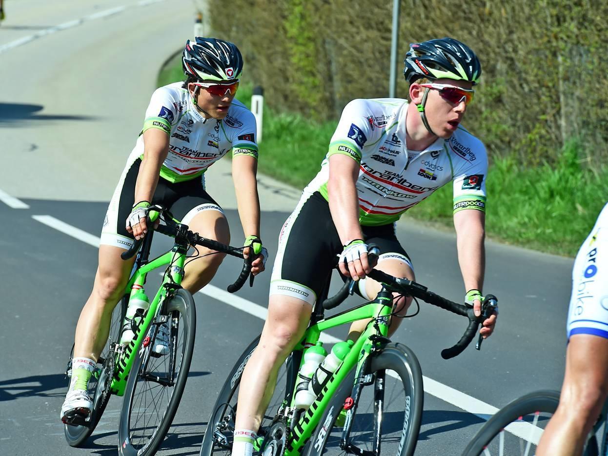 Fabian Schnaidt holte für das Team Vorarlberg wichtige UCI Punkte beim Rennen in England.