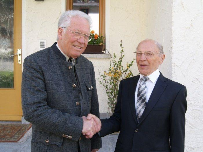 Der alte und der neue Obmann: Johann Sattler (r.) und Karl Netzer