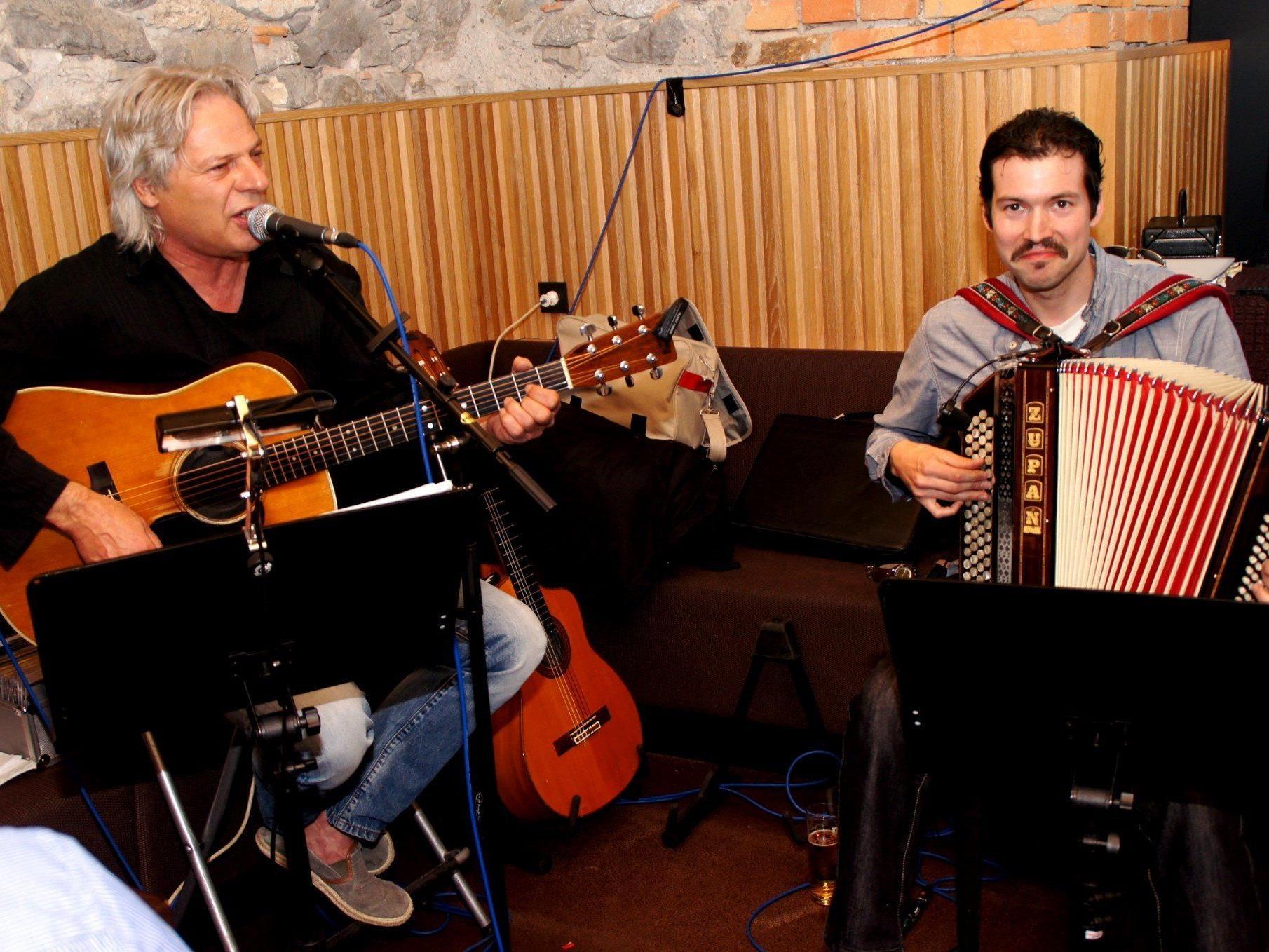 Wolfgang Verocai und Markus Dürst in voller Aktion