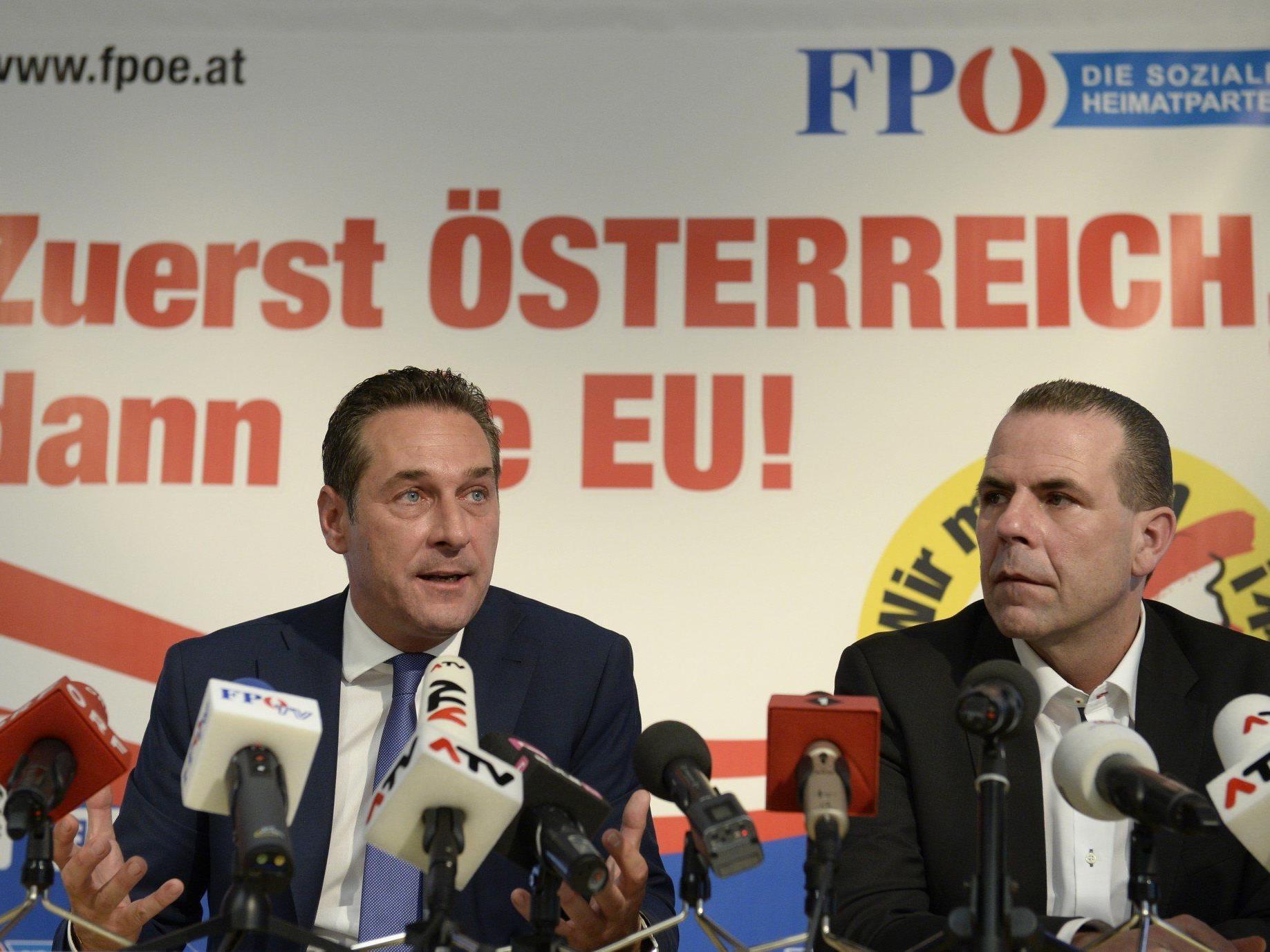 Einstimmig gewählt - Strache gab Entscheidung nach Vorstandssitzung bekannt.