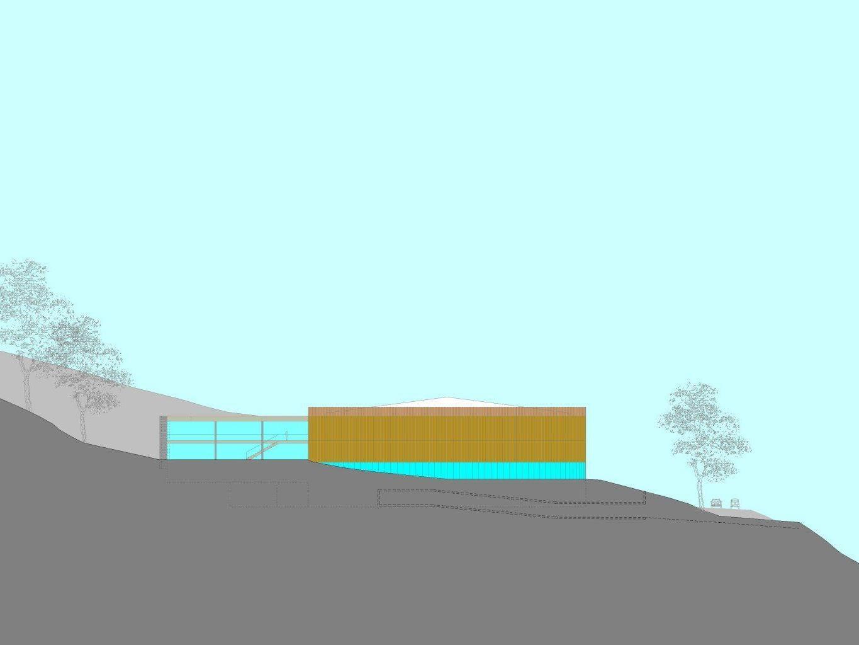 Die Südostansicht der geplanten Wälderhalle.