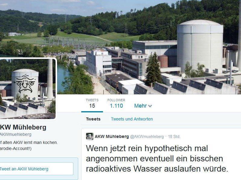 Das AKW Mühleberg schickt launige Tweets aus.