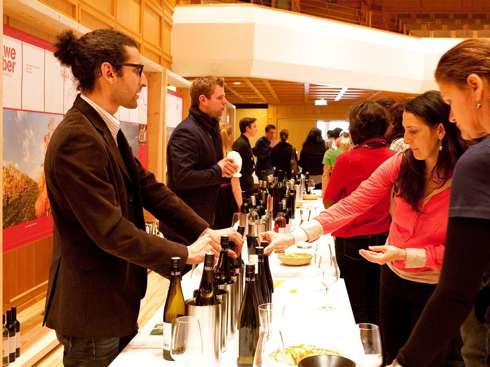 Weinkenner und Genießer können bei der auslese 2014 ein umfangreiches Sortiment verkosten.