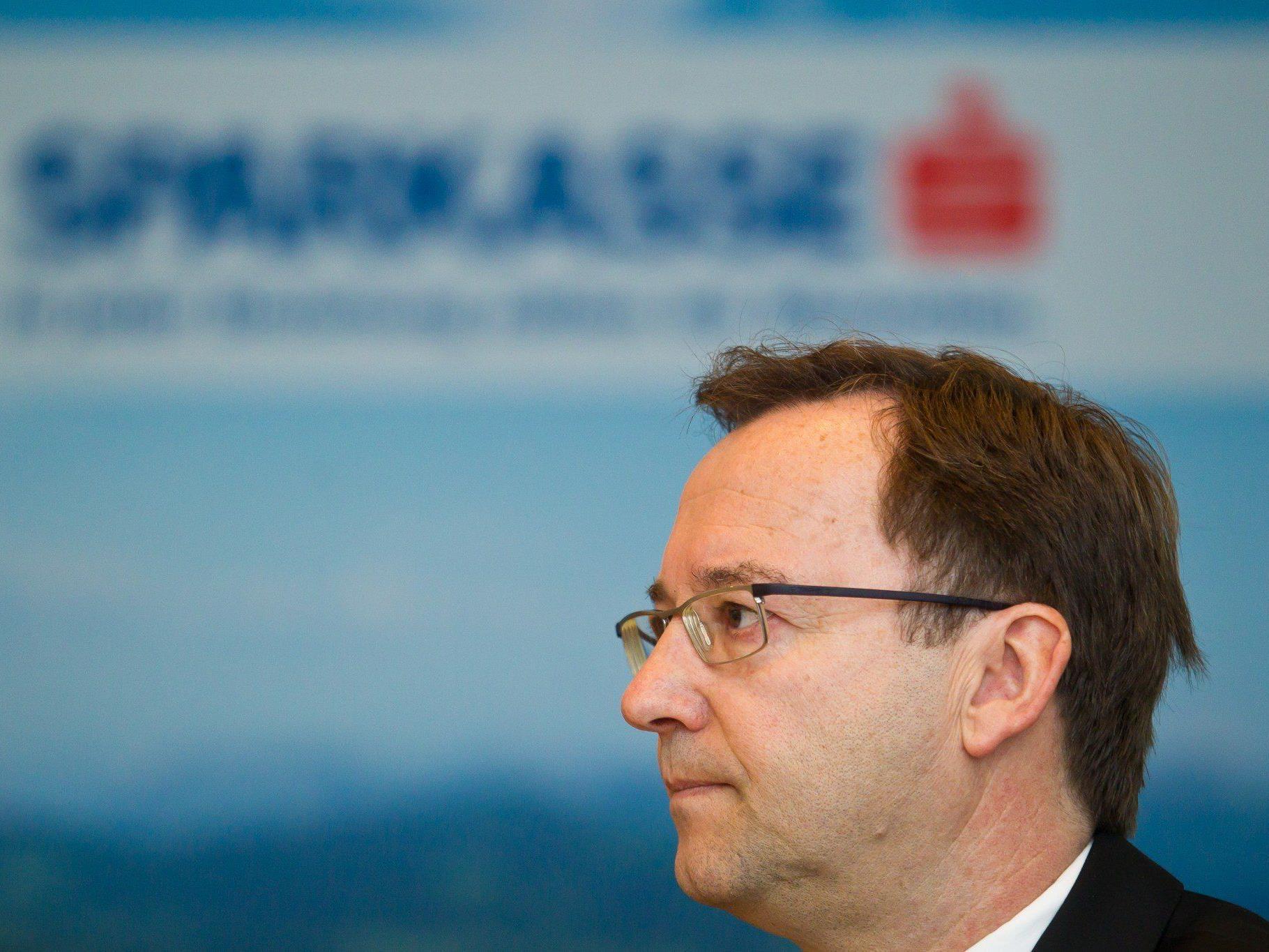 Vorarlberger Sparkassen: Betriebsergebnis sank wegen Sondereffekts um 7,2 Prozent auf 27,8 Mio. Euro. Im Bild: Gruppensprecher Werner Böhler.