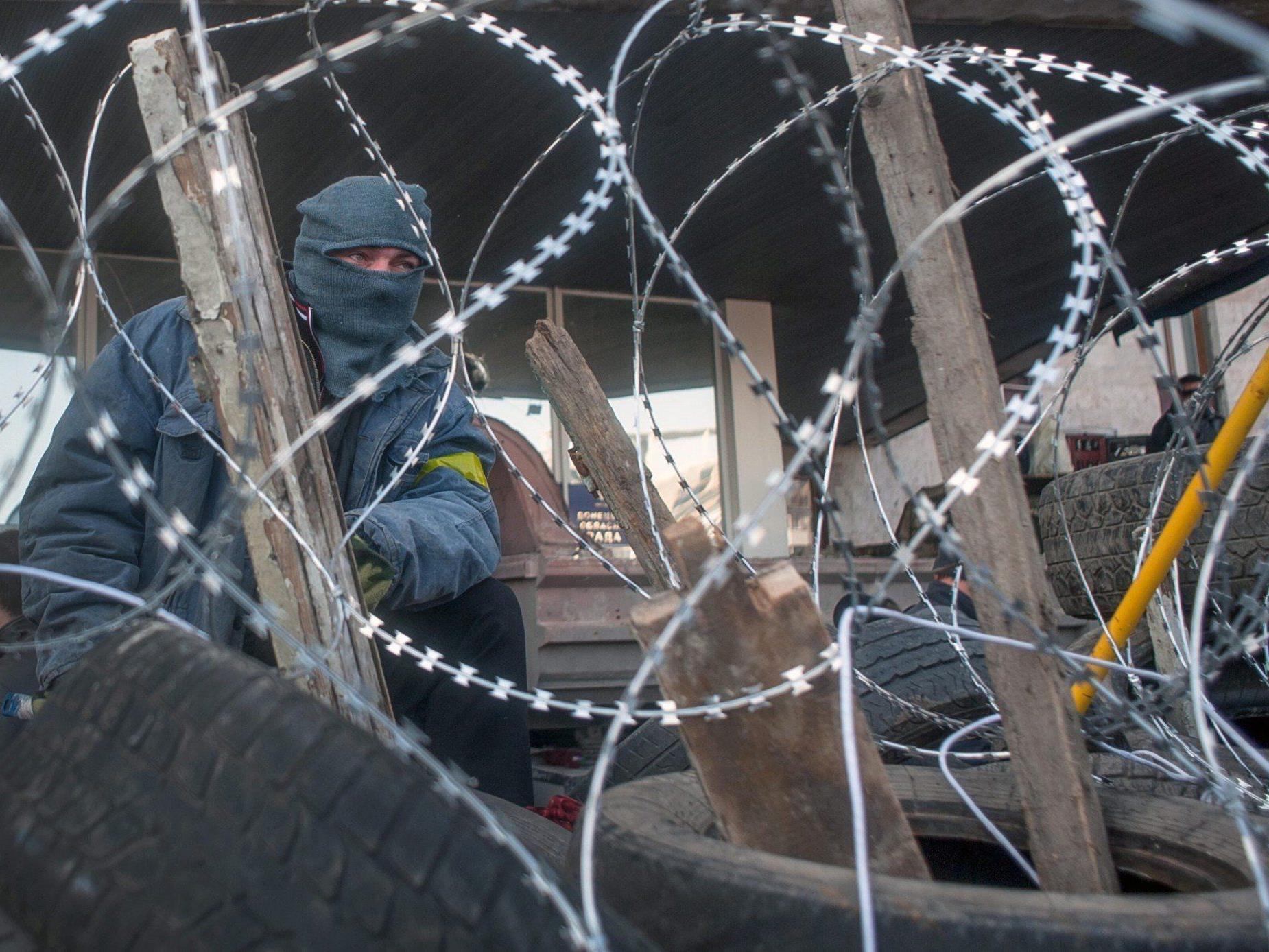 Vierergespräche sollen Lösung der Ukraine-Krise ermöglichen - im Bild: Proteste in Donezk.