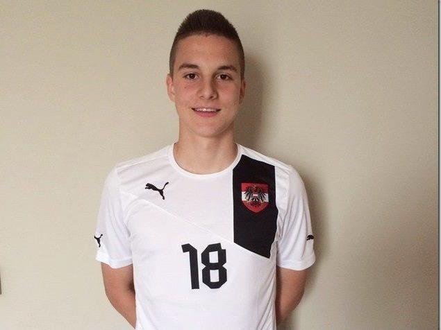 Der Dornbirner Florian Prirsch erzielte für das U-16-Team das Führungstor.