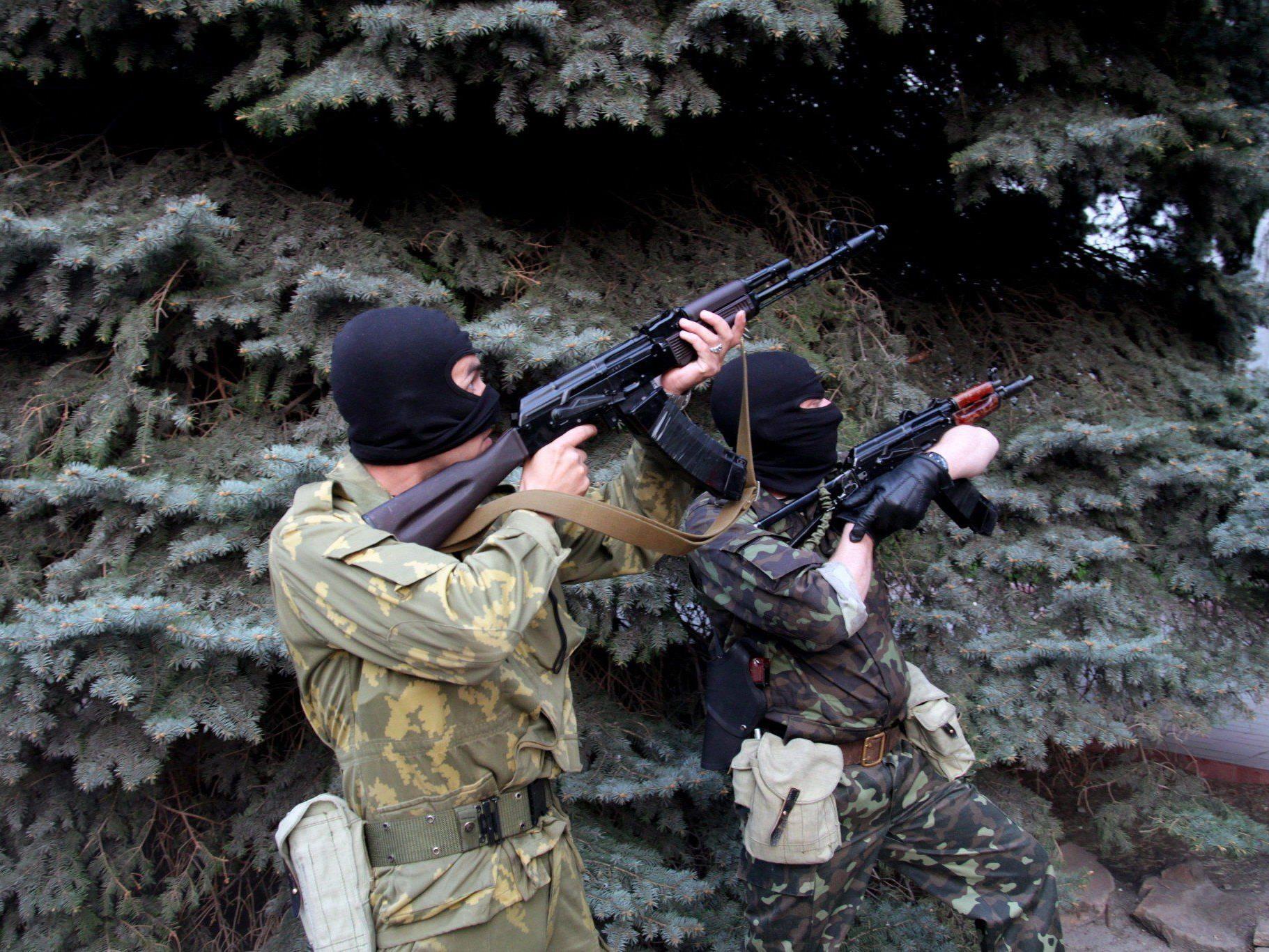 Im Osten der Ukraine stehen mehr als ein Dutzend Städte unter der Kontrolle pro-russischer Milizen.