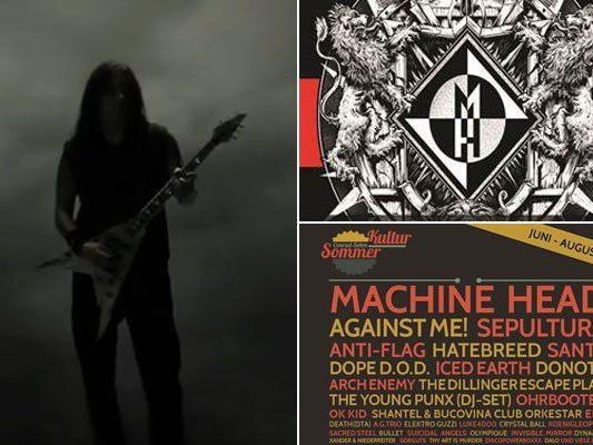 Die amerikanische Band Machine Head gastiert am 11. August 2014 im Conrad Sohm.