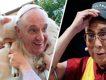 Eine himmlische coole Umfrage zu Papst Franziskus und dem Dalai Lama.