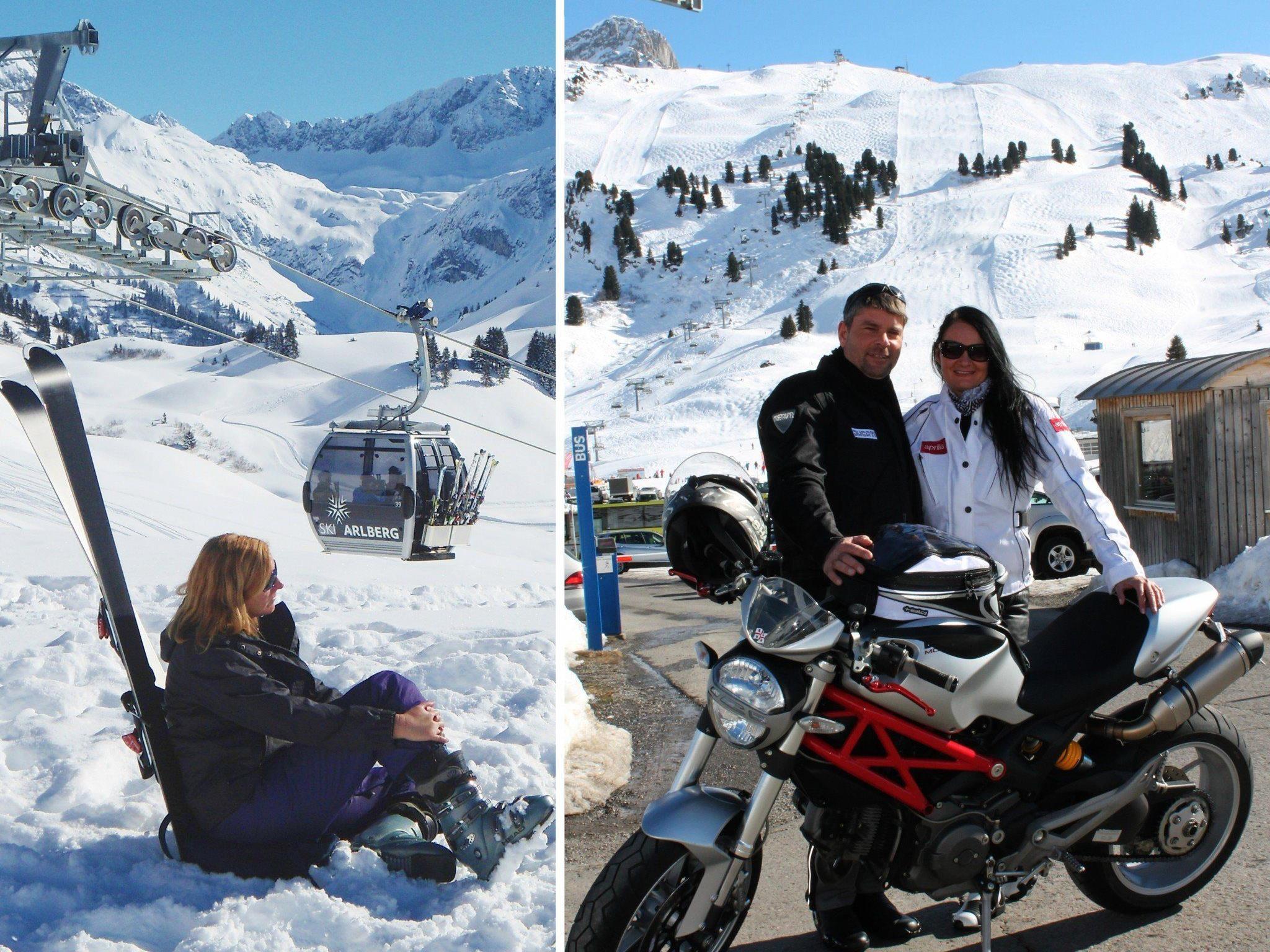 Während am Hochtannberg längst die Motorradsaison gestartet wurde, sind mit dem Jahrhundertprojekt Auenfeldjet noch die Skifreaks unterwegs.