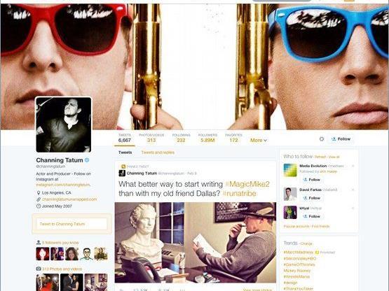 """""""A whole new you"""": Laut Twitter können erste Nutzer ab Dienstag auf das umgebaute Profil zurückgreifen"""