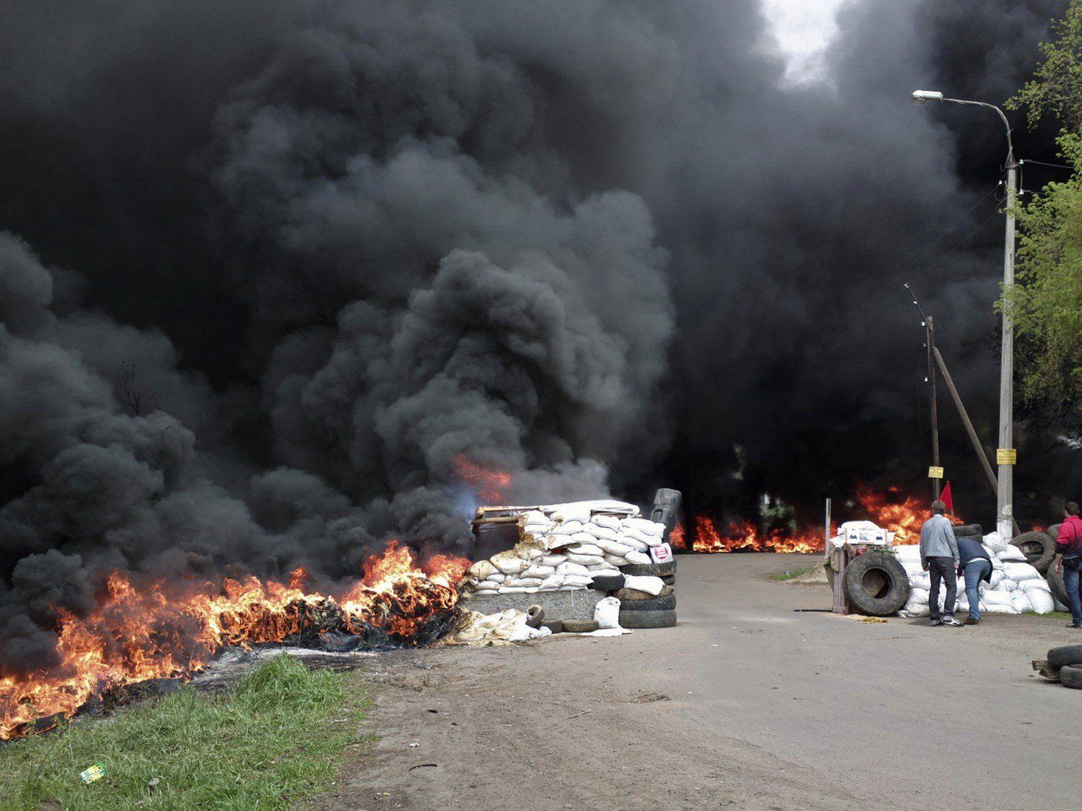 Hochexplosive Lage in der Ukraine.