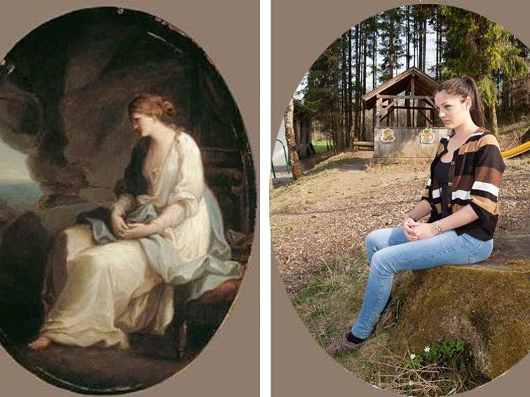 Historienbilder der Ausstellung wurden von den BORG-Schülern nachgestellt.