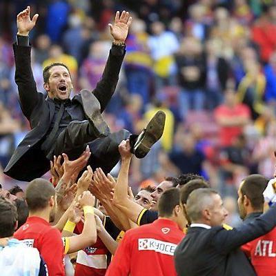 Trainer Diego Simeone wurde auf Händen getragen