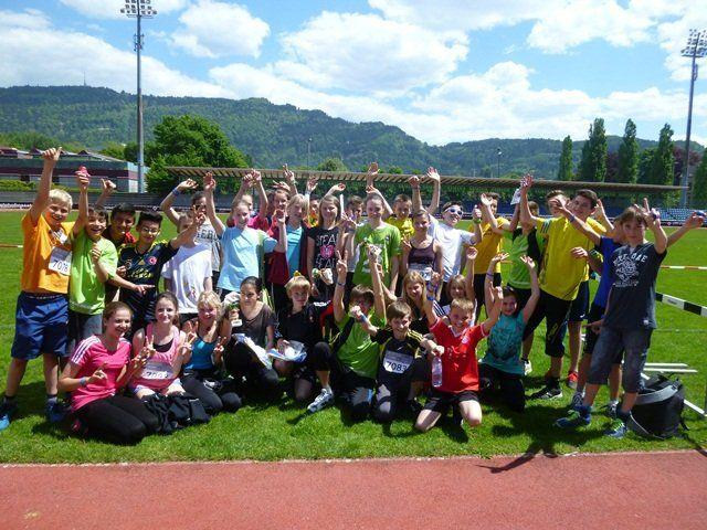 Die Schüler(innen) der VMS Hörbranz nahmen erfolgreich am Nestlé-Lauf teil.