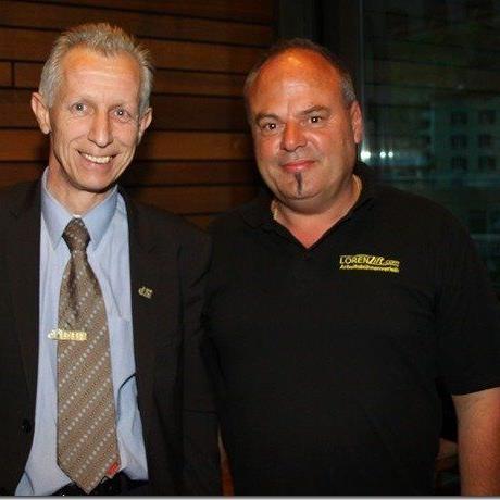 Hauptsponsor Friedrich Brunauer (l.) und neuer Namensgeber Harald Lorenz Lift.