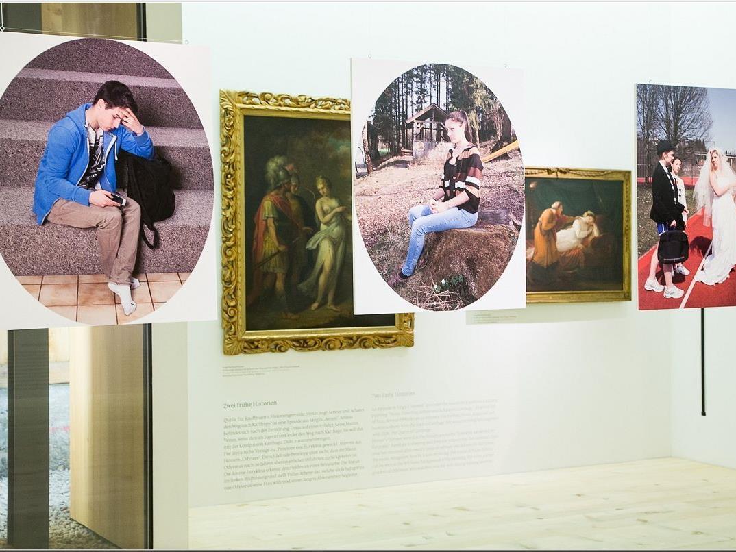 Projekt von Schülern des BORG EGG - Aufnahmen nach Motiven von Angelika Kaufmann