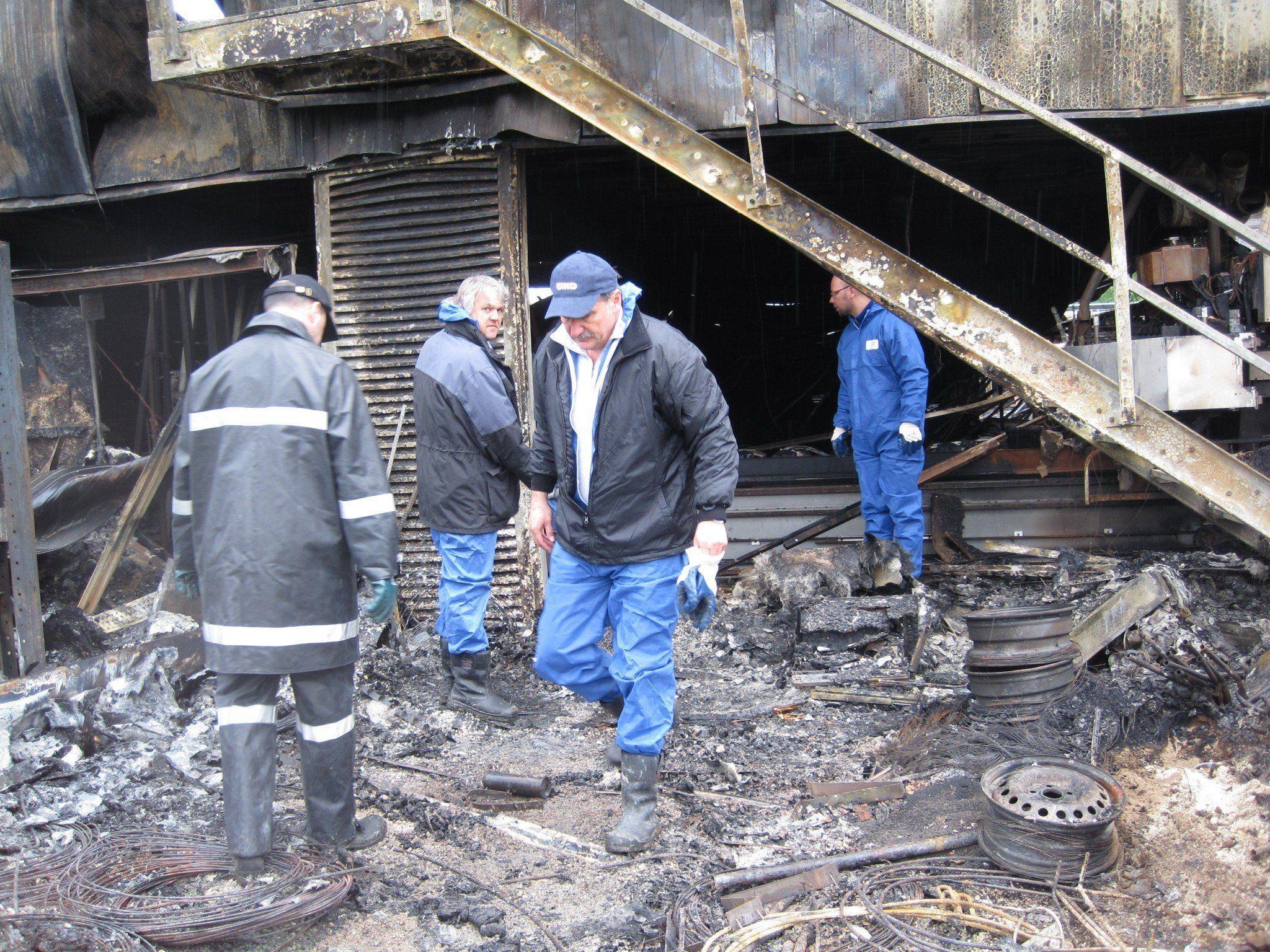 Die Überreste von Weiler Möbel wurden Heute untersucht.