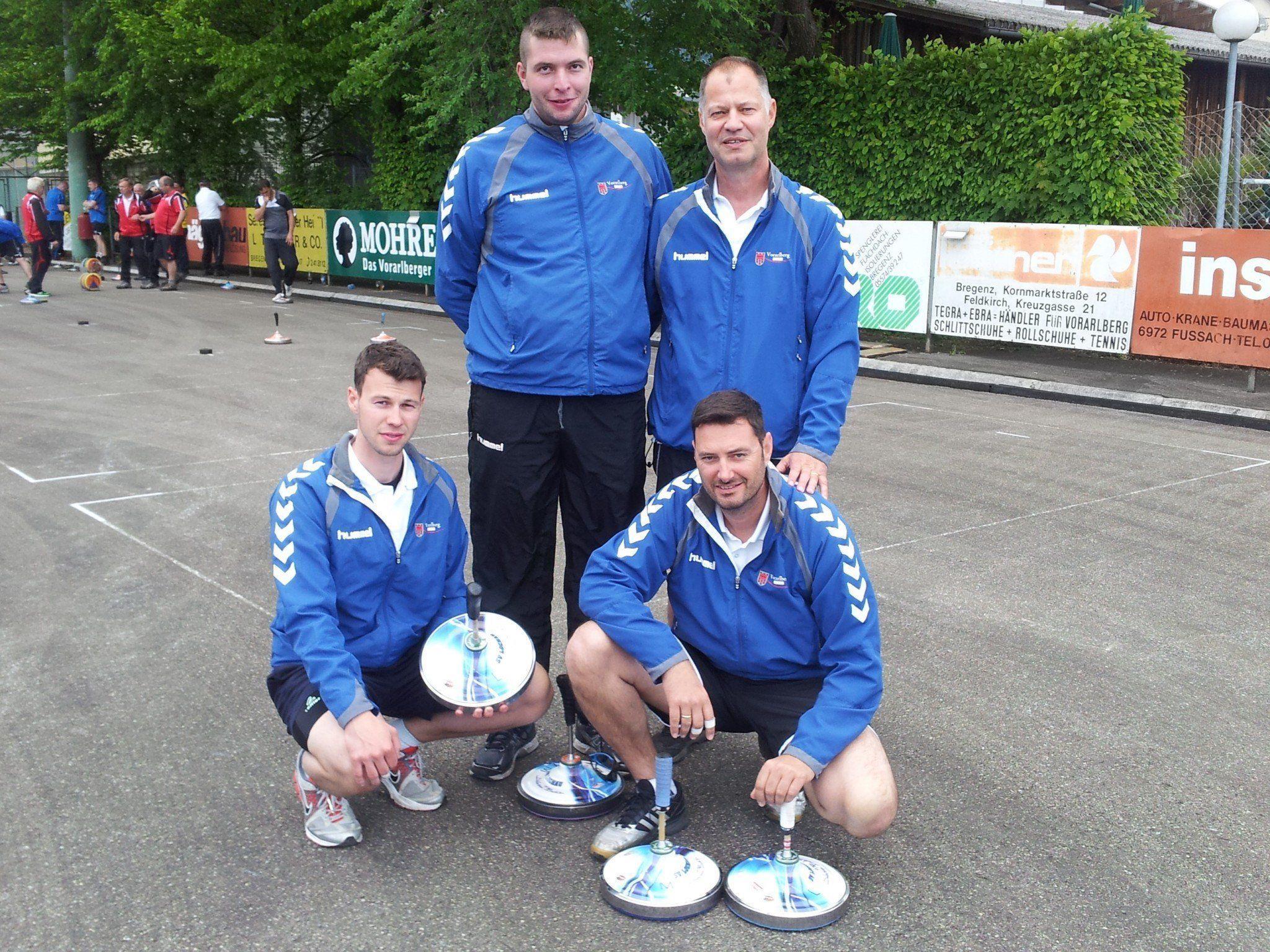 Das siegreiche Team: Abraham Sohm, Patrik Plangger, Christoph Sohm, Stefan Pienz